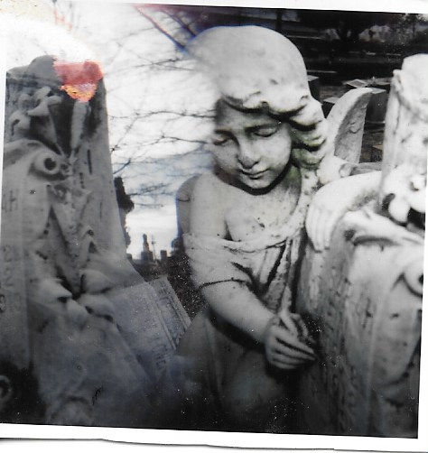double exposure w Holga camera, Oakland Cemetery, Atlanta